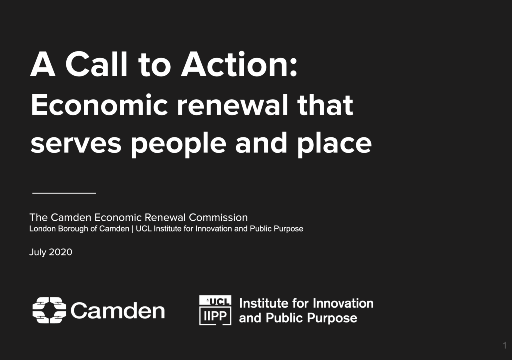 Cover of the Comission Call to Action